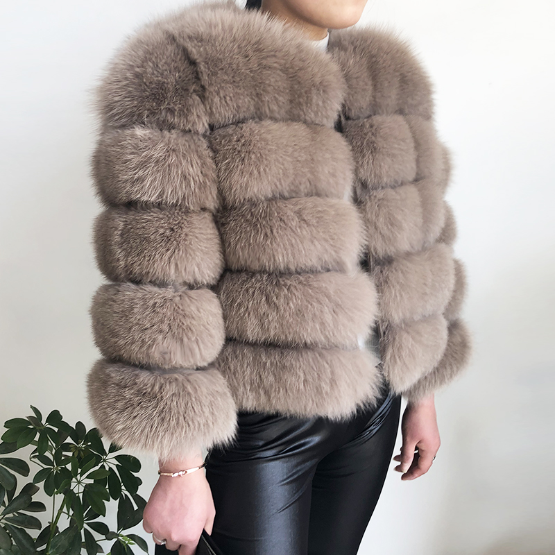 2019 new style real fur coat 100% natural fur jacket female winter warm leather fox fur coat high quality fur vest Free shipping 39