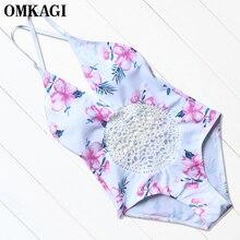 OMKAGI Sexy One Piece Swimsuit Swimwear Women Bodysuit  Bathing Suit Summer Beach Wear Monokini Push Up Swim Suit Swim Wear 2017