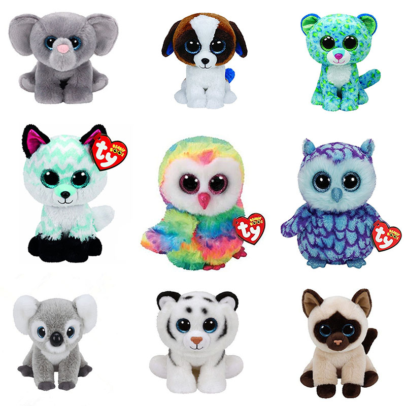 2215f3ddadd Ty Beanie Boos Big Eyes Owl Unicorn Cat Elephant Penguin Foxy Dog Rabbit  Giraffe Panda Monkey