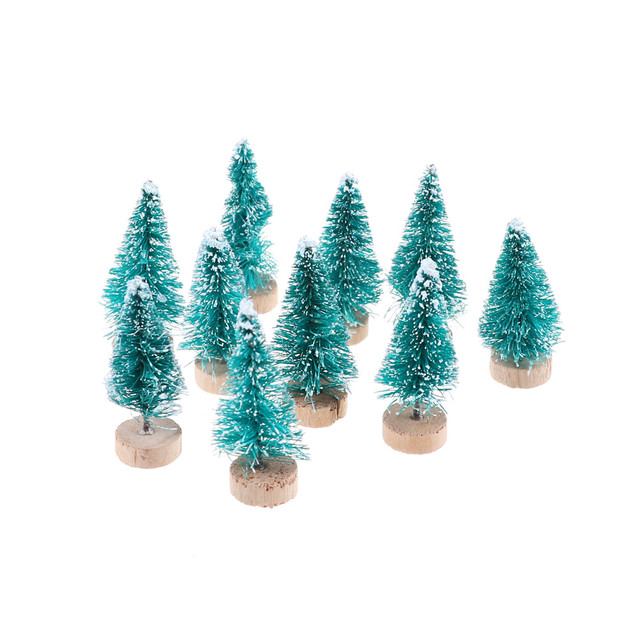 10pcs mini trees placed in the desktop for barbie doll accessories toys diy christmas tree small
