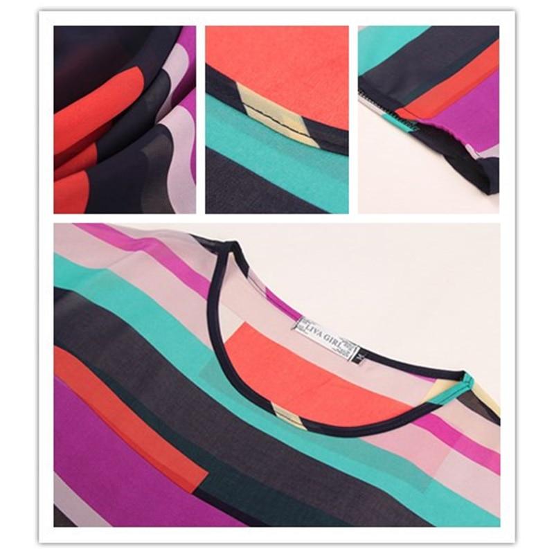 Կանանց նորաձևության գծավոր շիֆոն - Կանացի հագուստ - Լուսանկար 6
