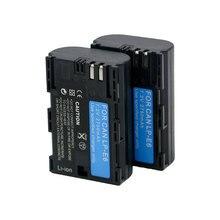 2 шт. литиевая батарея LP-E6 LPE6 LP E6 подходит для Canon EOS 5D Mark II III 2 3 6D 7D 60D 60Da 70D DSLR Камера