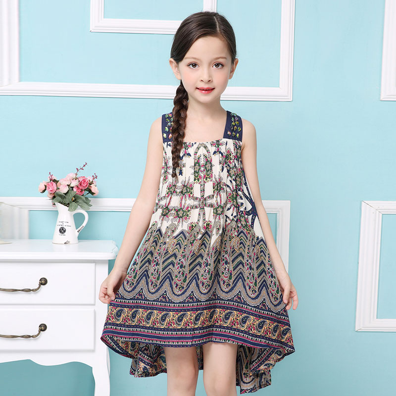 b2f6c7f75 Childdkivy 2018 Baby Girls Summer Dress 2018 New Brand Kids Beach Dresses  For Girls Children Bohemian Dress Fashion Clothes-in Dresses from Mother & Kids  on ...