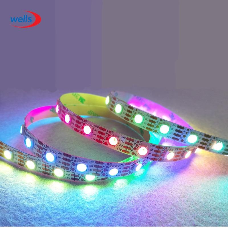 Ny 1m / 5m WS2813 Smart LED-pixelremsa, Svart / vit PCB, 30/60 LED / - LED-belysning - Foto 5