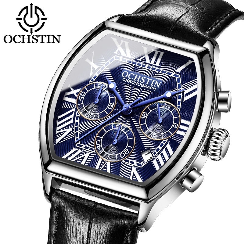 OCHSTIN nouvelle mode hommes montres Top de luxe marque Unique sport hommes montre hommes de Quartz Date horloge montre-bracelet Relogio Masculino