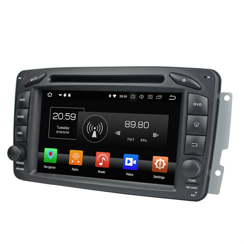 Octa Core 7 Android 8 0 Car Radio DVD GPS for Mercedes Benz ML W163 CLK