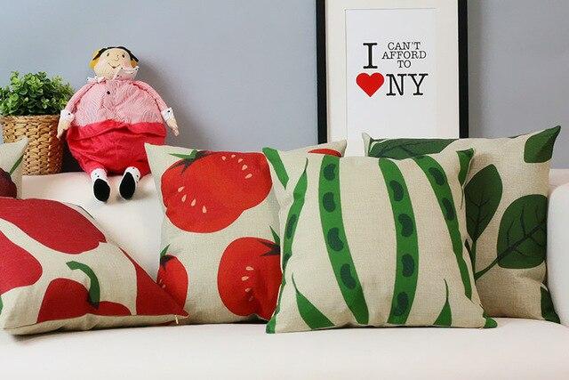 Divano Rosso Cuscini : Semplice nordic idillio village cuscino carino frutta cuscino rosso