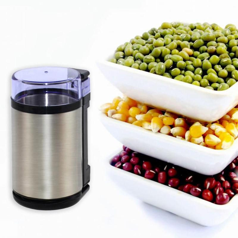 Stainless Steel Electric Coffee Spice Grinder Maker Beans Mill Herbs Nuts Cereal Grains Mill Machine Moedor de Cafe Home Use stainless steel electric coffee spice grinder maker beans herbs nuts cereal grains mill machine home use eu plug