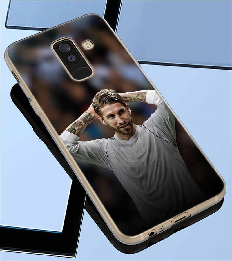 Transparente tpu capa sergio ramos sr4 moda para samsung galaxy a750 a9 a8 a7 a6 a5 a3 mais 2018 2017 caso de telefone