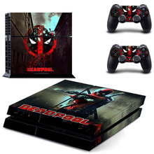 Новая наклейка «Дэдпул» наклейка для PS4 наклейка для sony Playstation 4 защитная пленка консоли+ 2 шт. контроллеры 7 pattrns