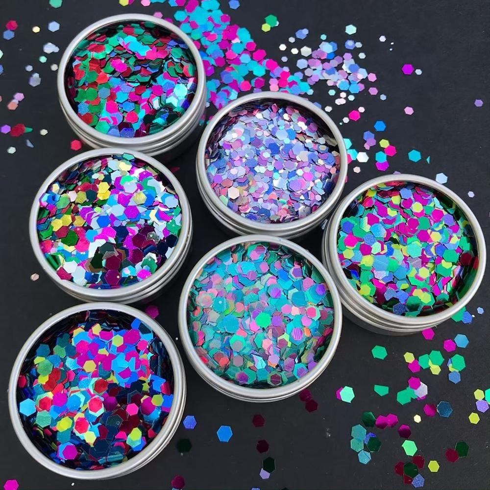 hexagon 4mm 20g PVC Sequins Crafts Paillette Sewing Decoration manicure DIY artesanato clothing Ornament Accessory craft