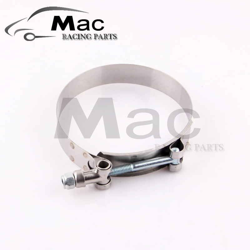 2PC/LOT SS304 3 CALMPS (79-87)STAINLESS SILICONE TURBO HOSE COUPLER T BOLT CLAMP KIT HIGH QUALITY