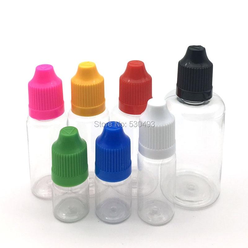 5Pcs Clear Dropper Bottle 3ml 5ml 10ml 15ml 20ml 30ml 50ml E Liquid Bottle Eye Liquid Dropper Refillable Bottle voterevenge 6mg 30mle liquid