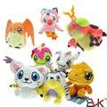 Aventura Digimon Patamon Plush Toys 12 cm Agumon Gabumon Gomamon Biyomon Palmon Digital Monstro Bonecos de Pelúcia para Crianças Presente