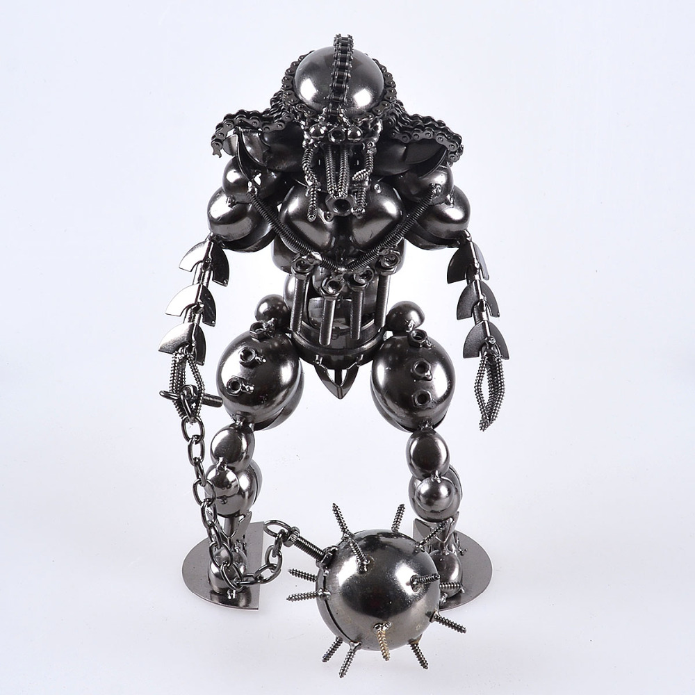 LS Big Hand Made Wrought Iron Craft Personalized Robot Home Decor ...