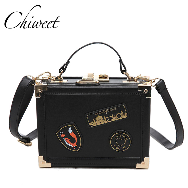d797204e81d7 Designer Women Square Box Patch Bag Famous Brands Vintage Clutch Tote  Evening Bags Luxury Handbag Trunk Messenger Shoulder Bags