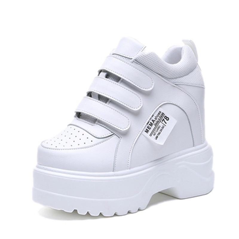 Ultralight white sneakers Lady 6 CM 2019 New Spring vogue Heighten informal footwear girls footwear Thick backside girl sneakers Girls's Pumps, Low cost Girls's Pumps, Ultralight white sneakers Lady...