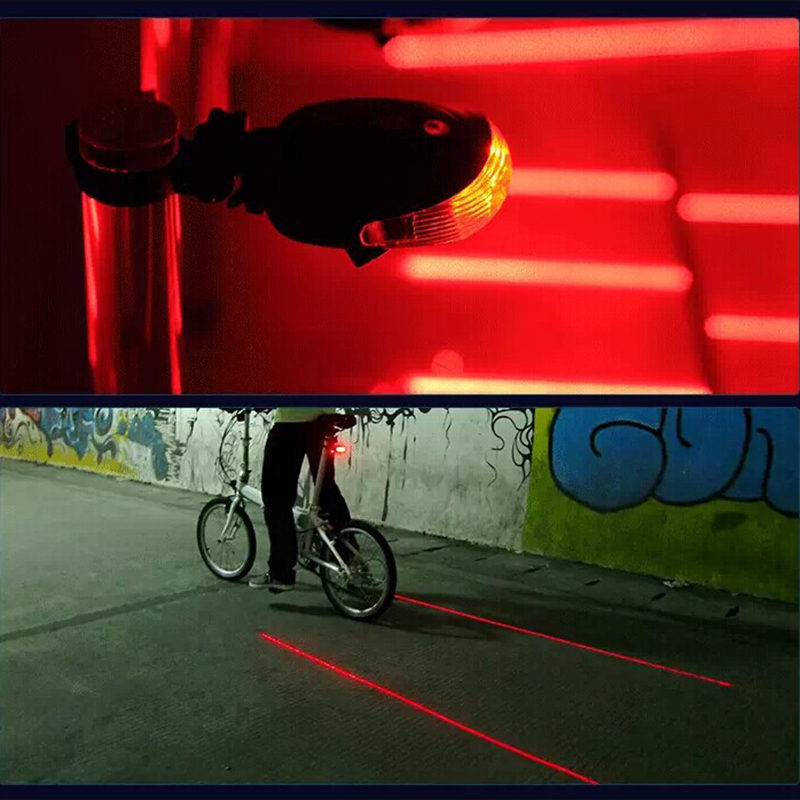 Велосипедный светильник, водонепроницаемый задний фонарь, 2 лазерных прожектора, предупреждающий светильник, Аксессуары для велосипеда, светодиодный светильник s|laser taillight|bicycle safetysafety warning lights | АлиЭкспресс
