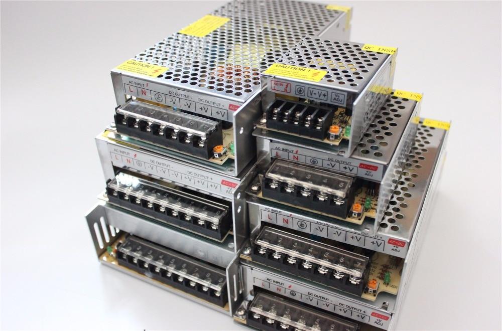 D100 DC12V 1.25A 2A 5A 10A 15A 20A 30A Switch Power Supply Adapter Transformer AC110V-240V to DC12V Adapter For LED Strips Light