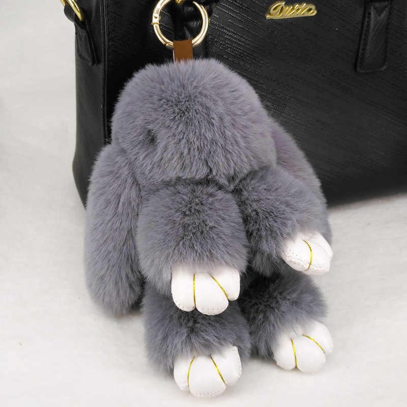 ... Cute Rabbit Puffy Pompon Key Chains Handmade Pokemon Bags Pendant  Fashion Jewelry Ornament Car Keychain New ... 73e1adb0e1c97