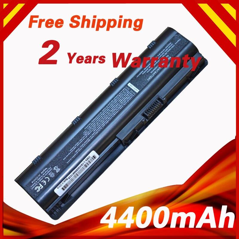 Batterie d'ordinateur portable pour HP MU06 pour Compaq Presario CQ32 CQ42 CQ43 CQ56 CQ62 CQ630 CQ72 pour Pavillon dm4 dv3 dv5 dv6 dv7 g4 g6 g7