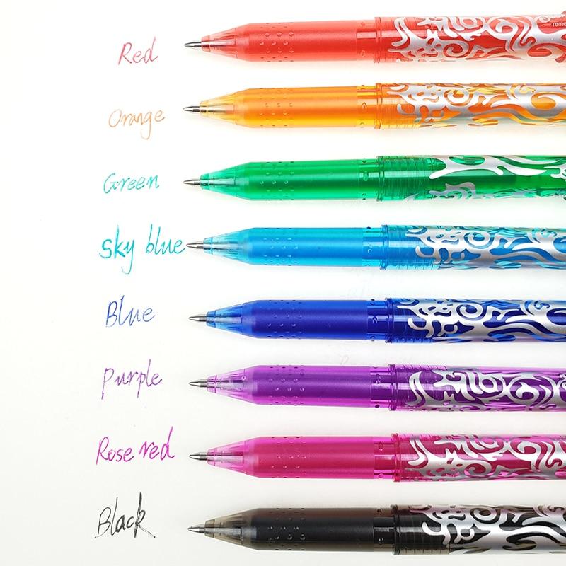 1Pc New 0.5mm Erasable Pen 1 pcs Refills Colorful set 8 kinds of styles Rainbow Erasable pen Best-selling Gel pen 2