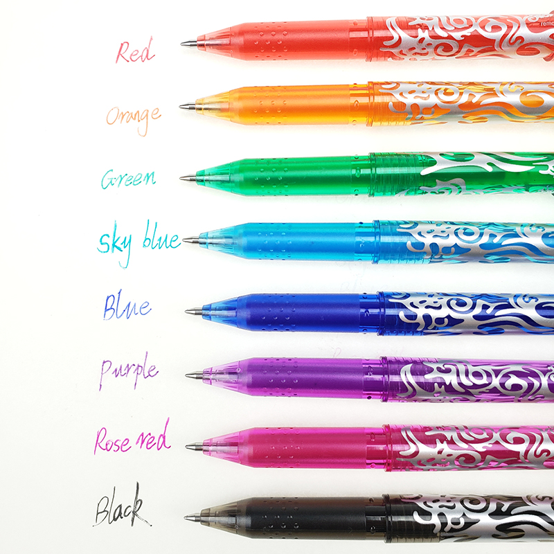 1Pc New 0 5mm Erasable Pen 1 pcs Refills Colorful set 8 kinds of styles Rainbow