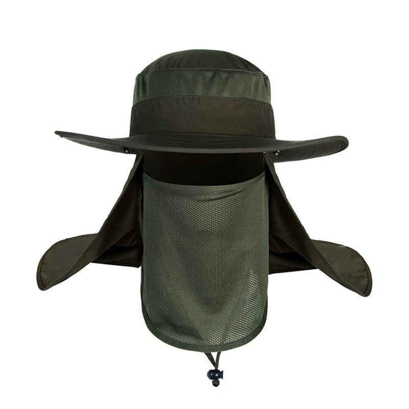 e59de01efb0 Outdoor Unisex Brim Sun Block Quick Drying Fishing Sun Cap Climbing Bucket  Hat