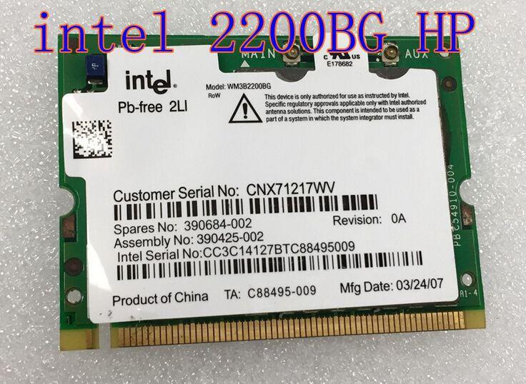 Nc6110 nc6120 nc6140 nc6220 nc6230 nc8230 nx6120 Compaq intel 2200 BG MINI-PCI беспроводная карта