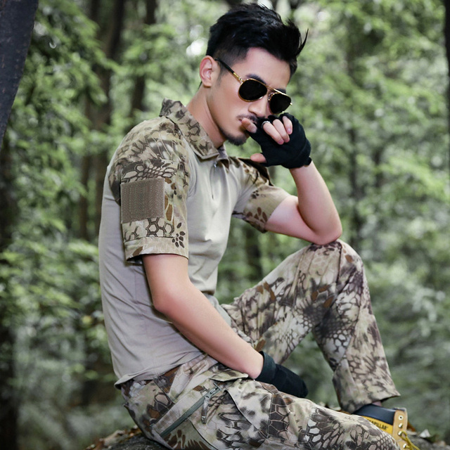 Tactical T-shirt Men SWAT Military Camouflage Soldiers Army Combat Tee Shirt Airsoft Paintball Short Sleeve T-shirt Clothes