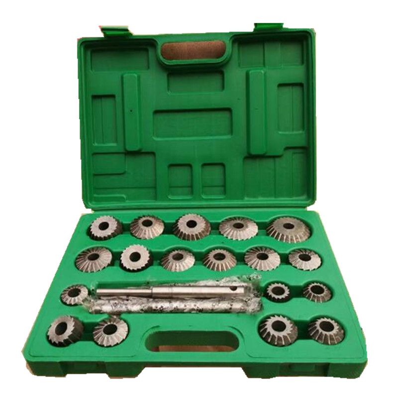 23PCS HIGH CARBON STEEL Valve Seat & Face Cutter Set For Agricultural Machinery
