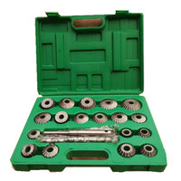 23PCS HIGH CARBON STEEL Valve Seat Face Cutter Set For Agricultural Machinery