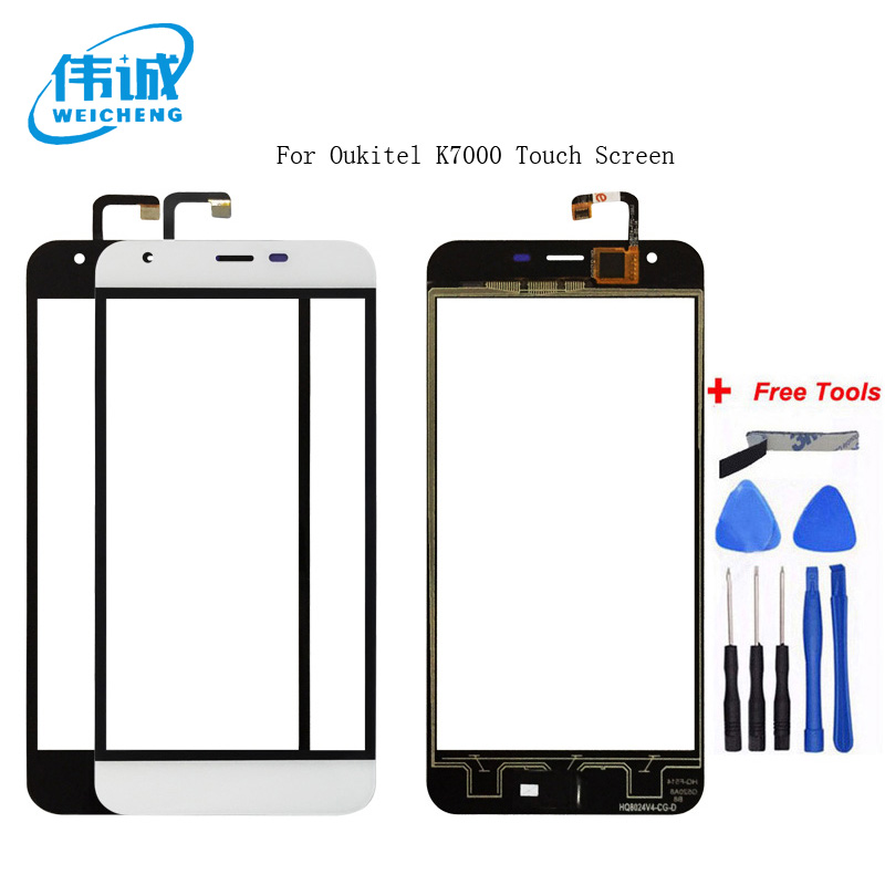 WEICHENG Top Quality For <font><b>Oukitel</b></font> <font><b>K7000</b></font> Touch Screen Digitizer 100% tested WEICHENG Digitizer Glass Panel Touch Replacement image