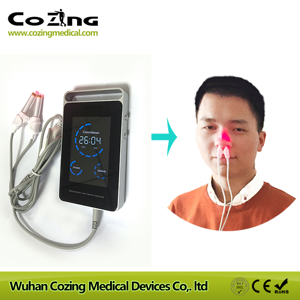 Medical laser intranasal red laser light therapy rhinitis and high blood pressure control device high quantity medicine detection type blood and marrow test slides