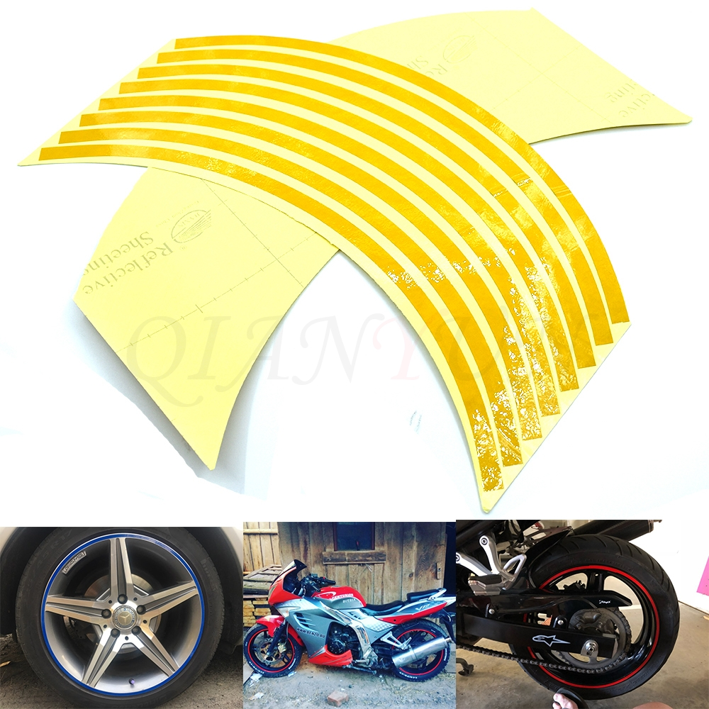 Hot Motorcycle Wheel <font><b>Sticker</b></font> Reflective <font><b>Decals</b></font> Rim Tape Car/bicycle For <font><b>SUZUKI</b></font> GSR750 GSXR1000 GSXR 600 <font><b>750</b></font> 1000 K1 K3 K5 K7 K9 image