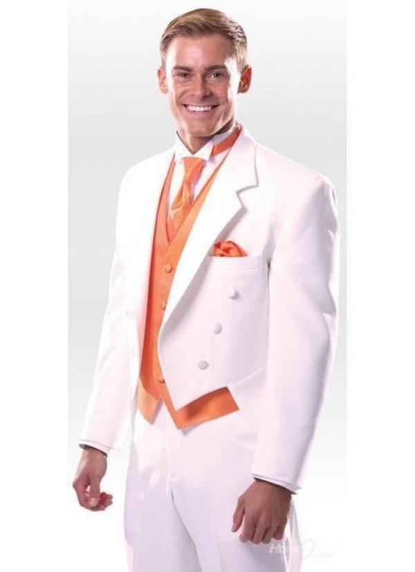 Purple Tuxedo Jacket Three Haut Notch Lapel White Groom Tuxedos ...