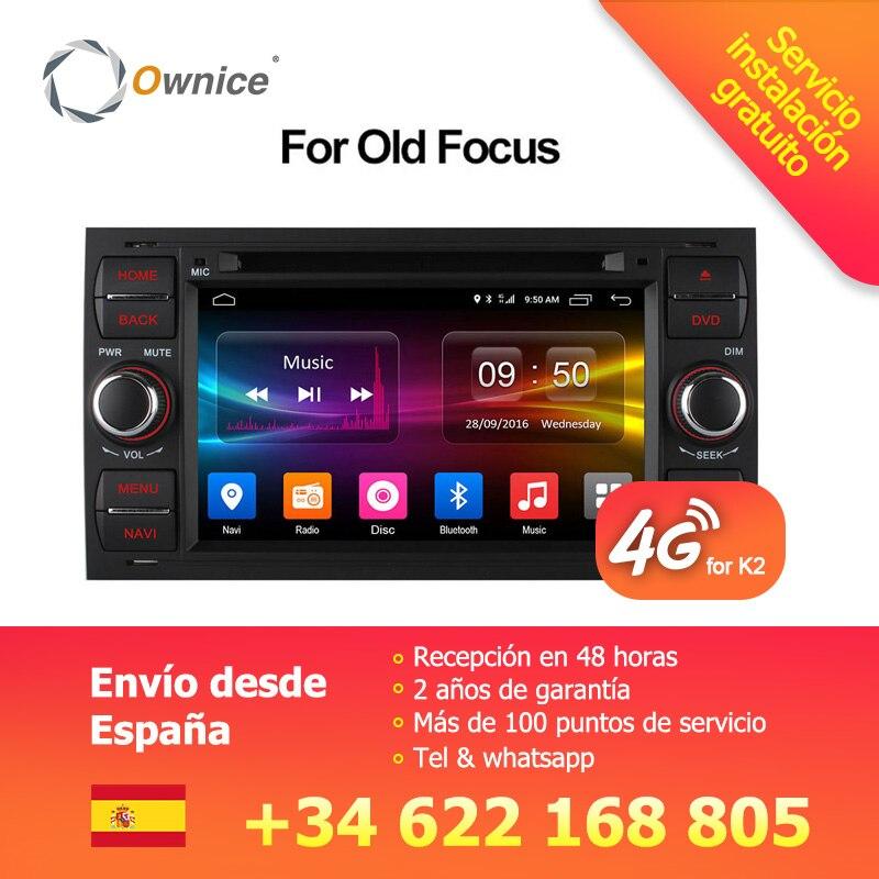 Ownice C500 Android 6.0 Octa 8 Core In Dash Car DVD Player Per Ford Mondeo Focus Transit C-MAX GPS Navi radio di Sostegno 4g LTE