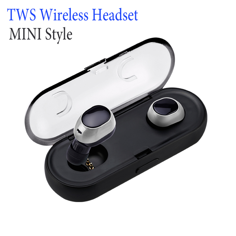 NEW Ture Wireless Stereo TWS i7  Mini Bluetooth headset Earphone built-in Mic Recharge Earbud For iPhone Smartphone