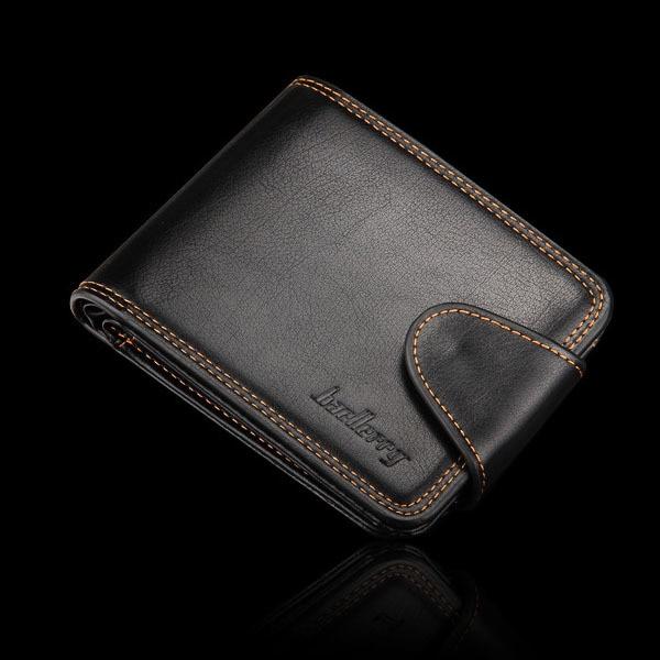 Men Business Casual Zipper Short Card Holder Wallet 2016 New