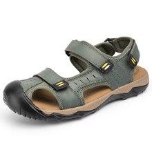 Clorts aqua shoes Мужская водонепроницаемая обувь для прогулок летняя обувь для плавания дышащая обувь болотная обувь спортивные сандалии из натуральной кожи