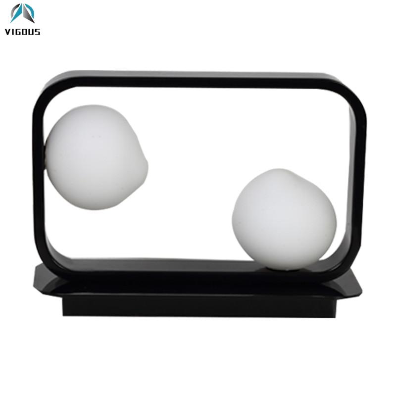Нордический минимализм квадратная светодиодная Таблица лампа стекло Глобус оттенки свет для изучения Комнаты Простые светодиодные прикро