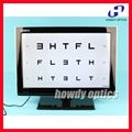 "2016 New arrival 19"" LED visual acuity chart Wide array of charts Mirroring ability"