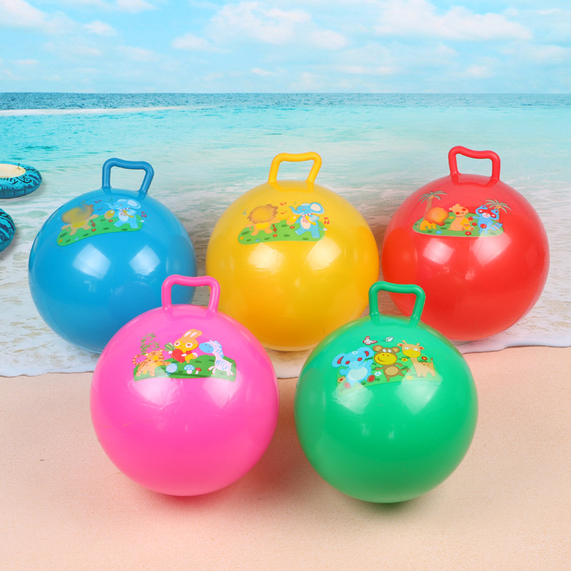 Baby Kids Inflatable ball Toys Cartoon Bouncing Ball Children Beach Pool Rubber Ball Play Sport shaking ball Toys