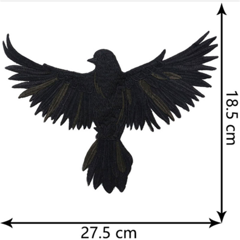 Eagle Embroidery Animal Stickers Bird Applique Sew On Coat DIY Craft lron On Transfers For Clothing Repair Patches Garment Cloth in Patches from Home Garden