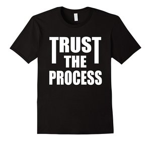 TRUST THE PROCESS TShirt Workout Fitness Motivation Men Funny O Neck Short Sleeve Cotton T-Shirt(China)