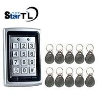 Free Shipping Metal Proximity RFID Door controller Password keypad Access Control+125Khz Keys