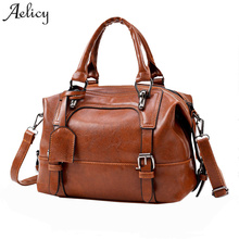 66c53b9203 Aelicy Large Capacity Vintage Four Belts Shoulder Bags High Quality Leather  Casual Tote Bag Fashion Fake