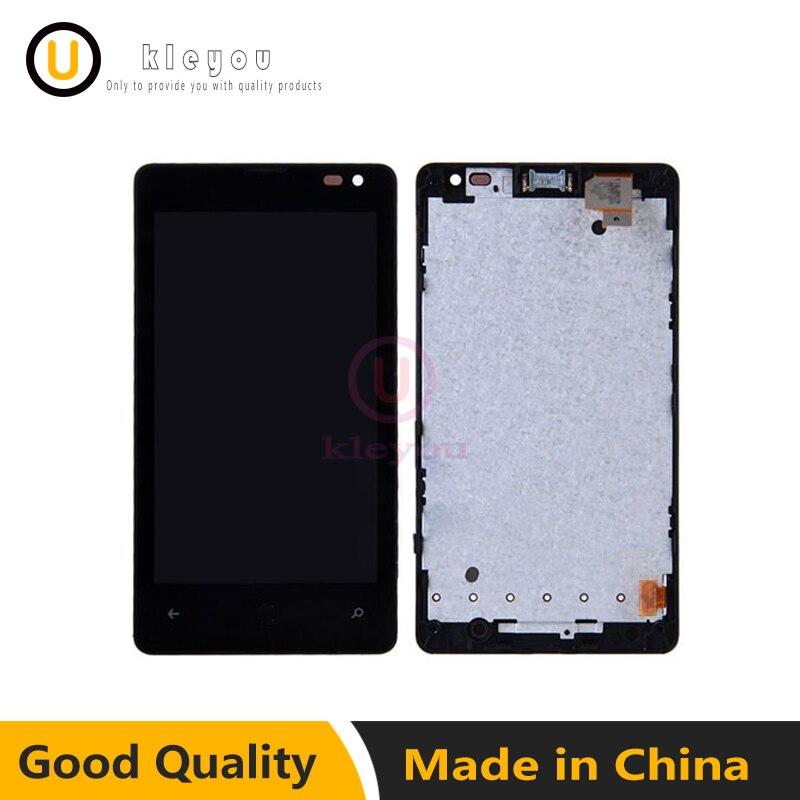 Pour Nokia Microsoft Lumia 435 1069 1070 1071 LCD Tactile écran Digitizer Capteur + LCD Panneau D'affichage Assemblée Moniteur cadre