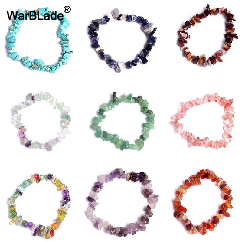Женский браслет с драгоценным камнем WarBLade, нестандартный браслет с драгоценным камнем и кристаллами-кристаллами, браслет-Самородок из квар...