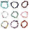 WarBLade Irregular Natural Gem Stone Bracelet Crystal Stretch Chip beads Nuggets Bracelets Bangles Quartz Wristband For Women